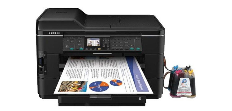 МФУ Epson WorkForce WF-7525 с СНПЧ