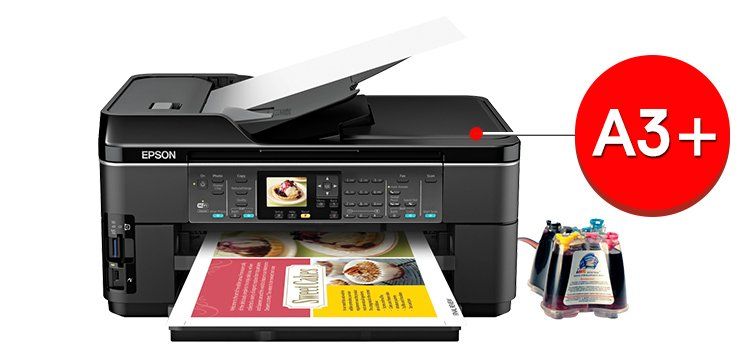 МФУ Epson WorkForce WF-7510 с СНПЧ (C11CA96201)