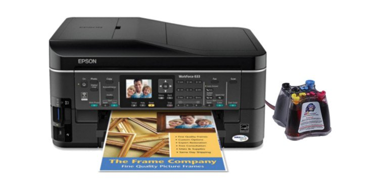 МФУ EPSON WorkForce 633 Refurbished с СНПЧ