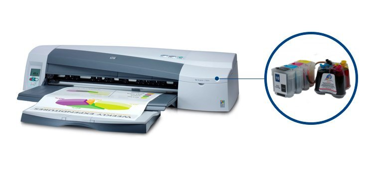 Плоттер HP DesignJet 110 plus с СНПЧ